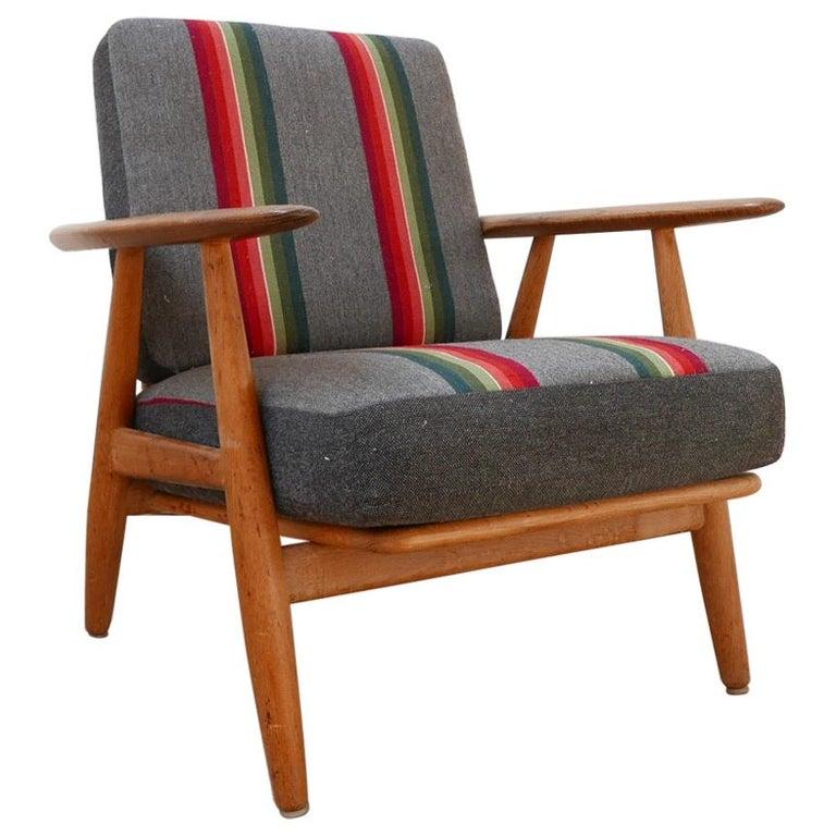 Hans J Wegner 'Cigar' GE-240 Armchair for GETAMA For Sale