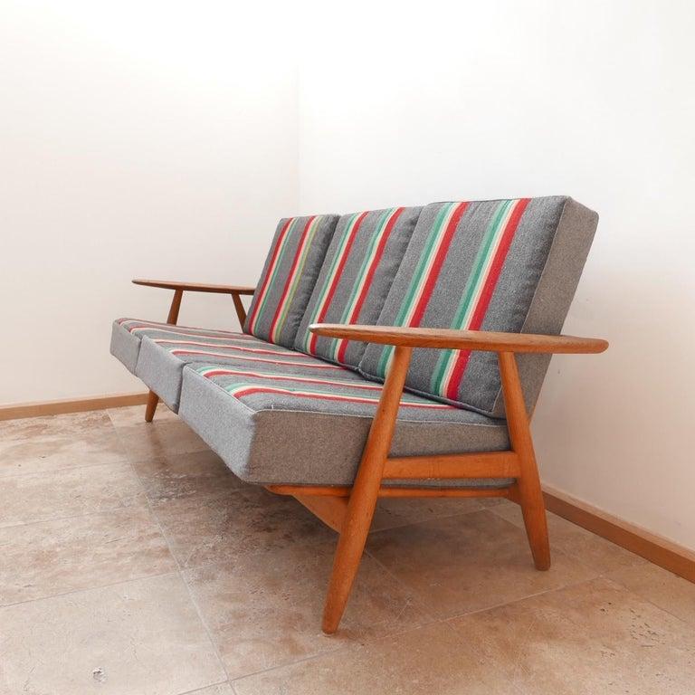 Danish Hans J Wegner 'Cigar' GE-240 Sofa for GETAMA For Sale