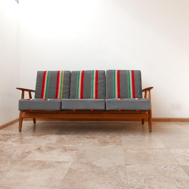 20th Century Hans J Wegner 'Cigar' GE-240 Sofa for GETAMA For Sale