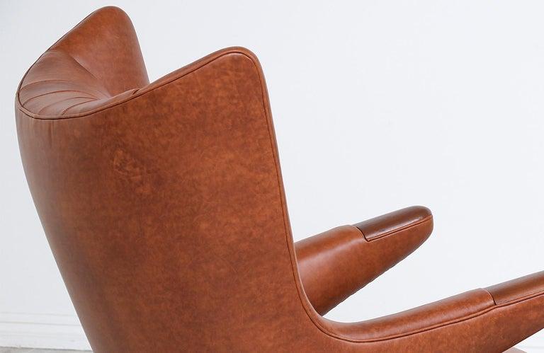 "Hans J. Wegner Cognac Leather ""Papa Bear"" Chair with Ottoman for A.P. Stolen 5"