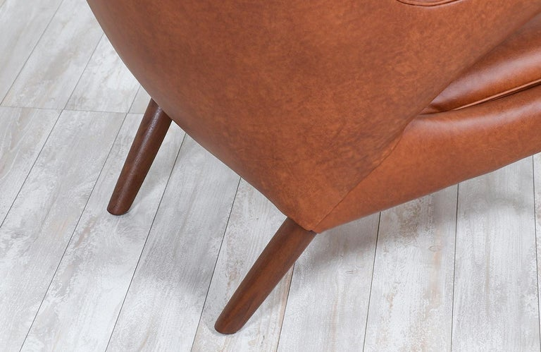 "Hans J. Wegner Cognac Leather ""Papa Bear"" Chair with Ottoman for A.P. Stolen 7"