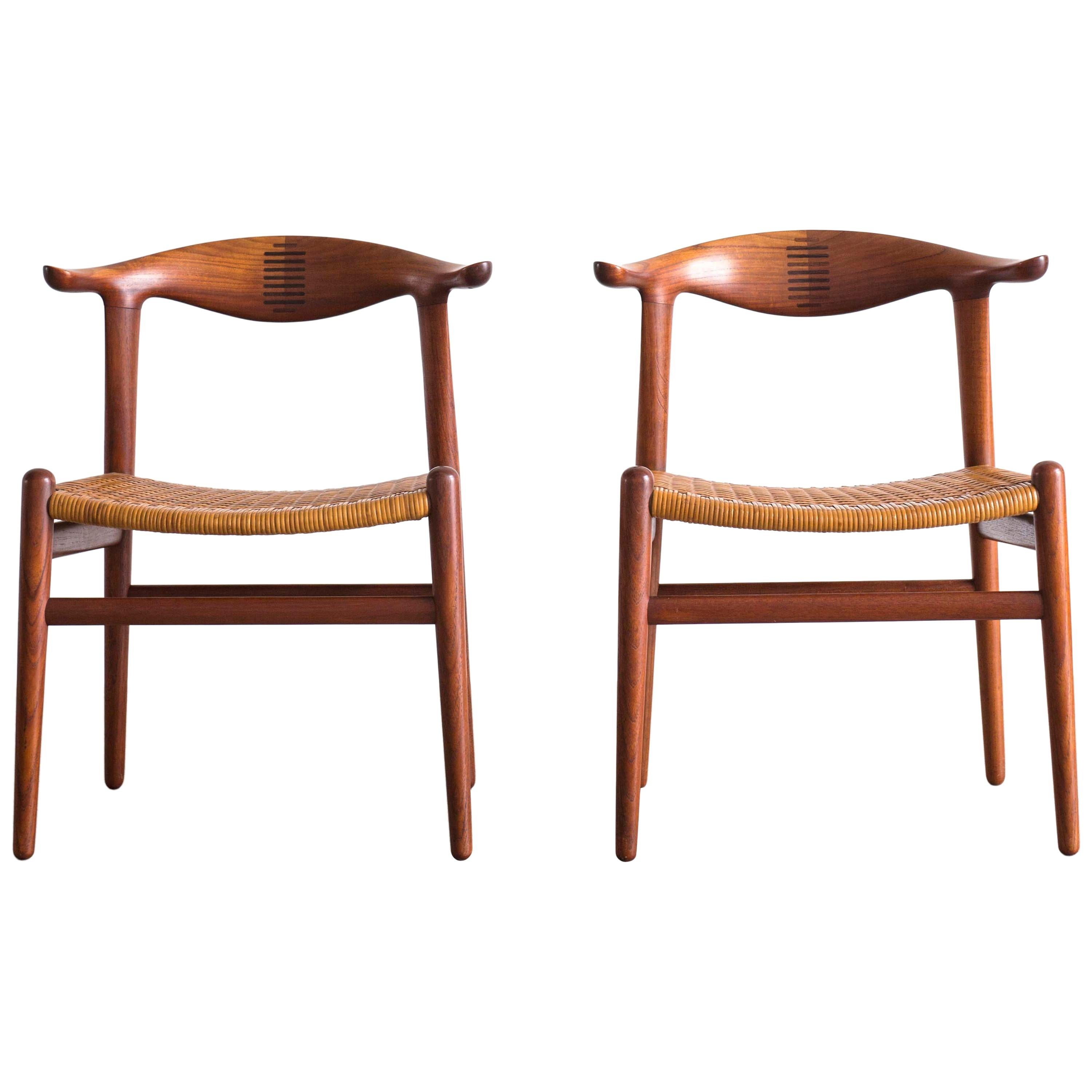 Hans J. Wegner Cow Horn Chairs for Johannes Hansen