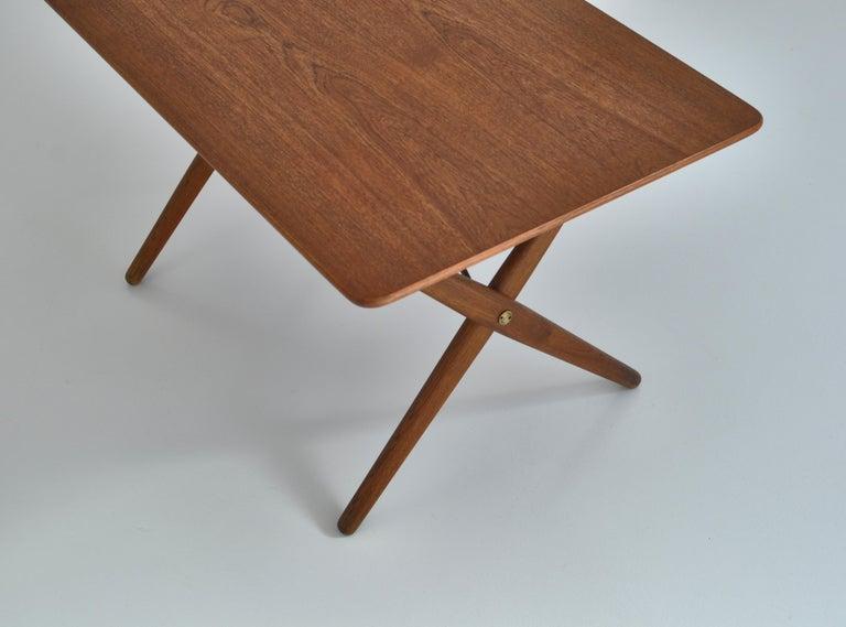 Scandinavian Modern Hans J. Wegner Crossed Legs Side Table