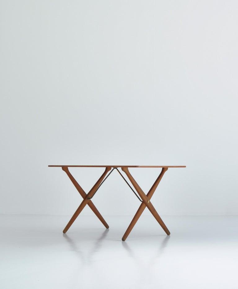 Danish Hans J. Wegner Crossed Legs Side Table