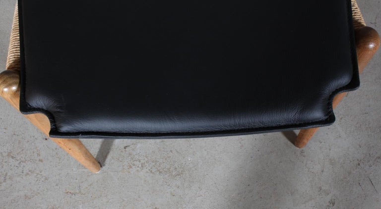 Leather Hans J. Wegner Cushion for Wishbone Chair CH24 For Sale