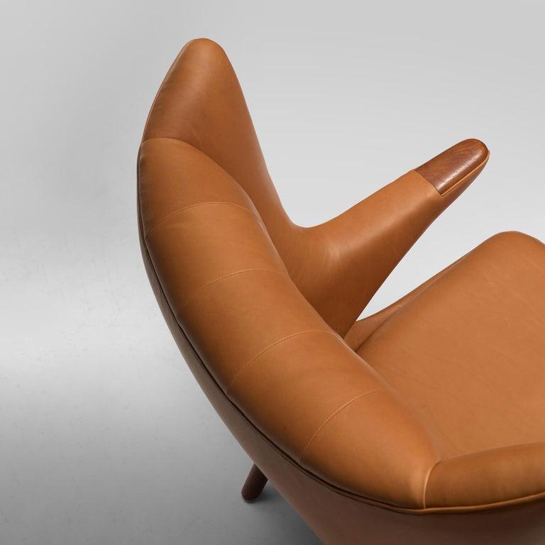 Scandinavian Modern Hans J. Wegner Customized 'Papa Bear' Chair For Sale