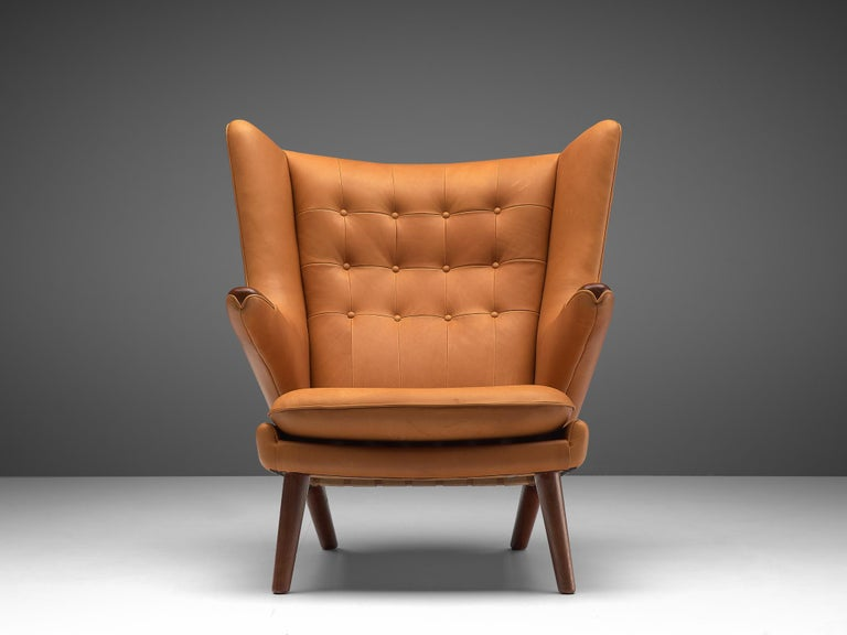 Danish Hans J. Wegner Customized 'Papa Bear' Chair For Sale