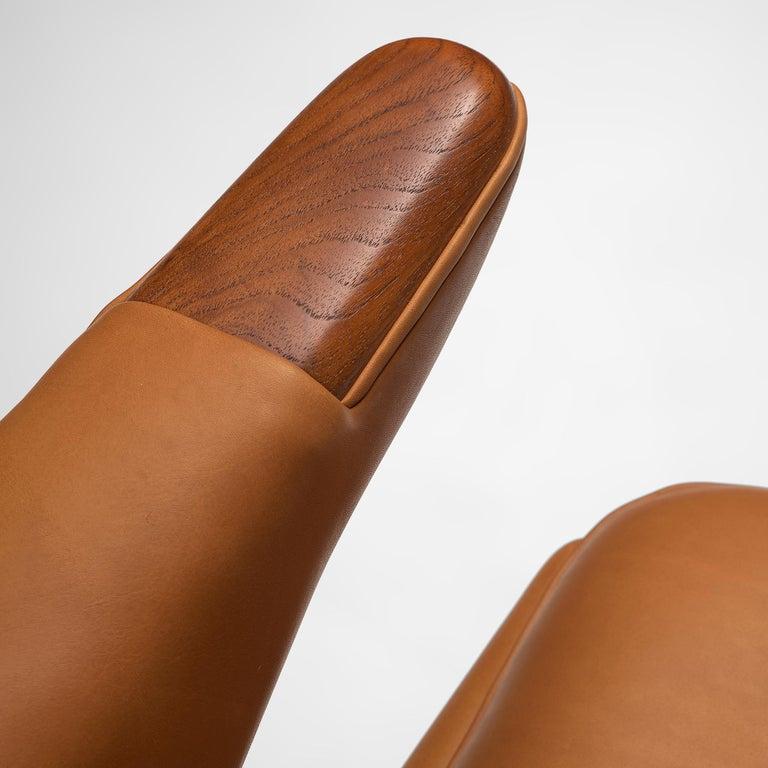 Leather Hans J. Wegner Customized 'Papa Bear' Chair For Sale