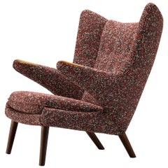 Hans J. Wegner Customized 'Papa Bear' Lounge Chair Upholstered in Raf Simons