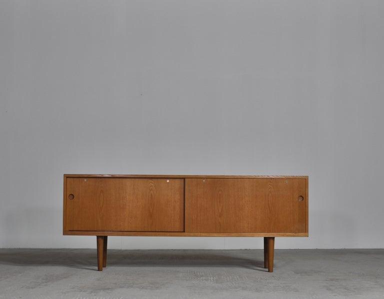Scandinavian Modern Hans J. Wegner Danish Modern Sideboard in Oak Model
