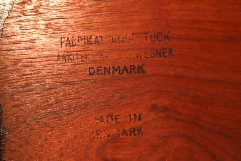 Hans J. Wegner Danish Modern Teak Drop-Leaf Dining Table, Newly Refinished For Sale 10