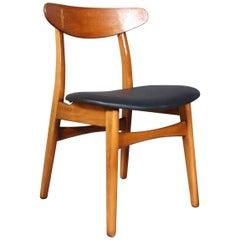 Hans J. Wegner Dining Chair, Model CH-30 in Beech and Teak