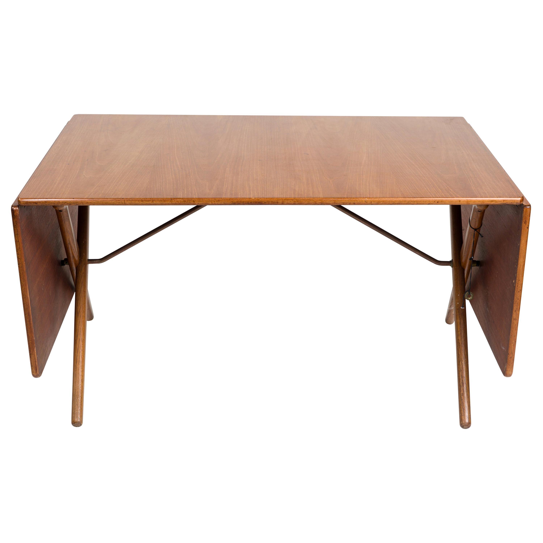 Hans J. Wegner Dining Table, Model AT304, Teak and Oak Foldable