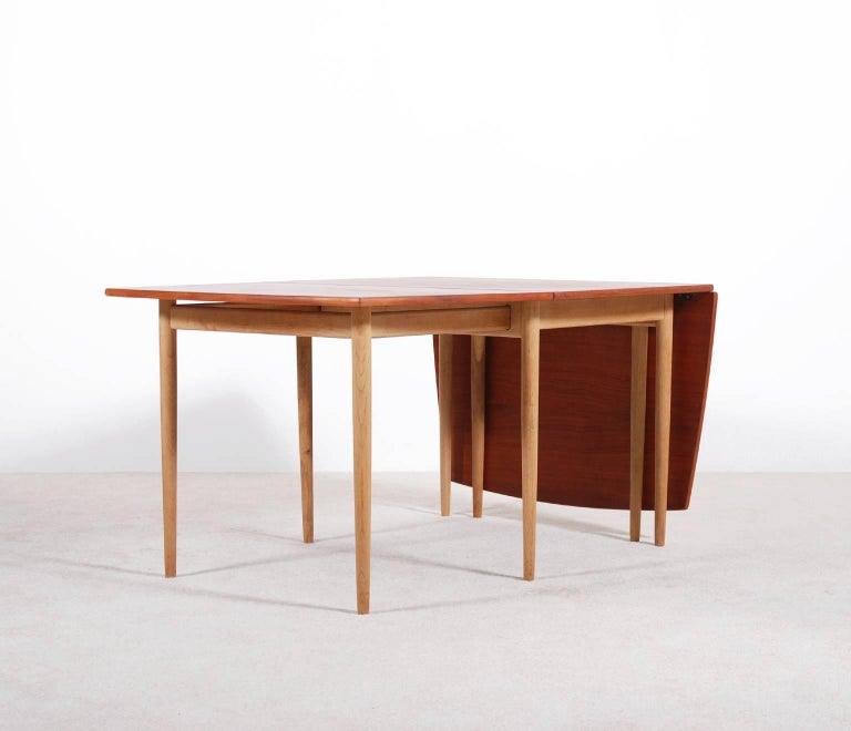 Scandinavian Modern Hans J. Wegner Drop-Leaf Dining Table for Andreas Tuck, 1960 For Sale