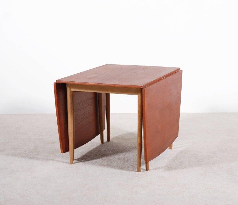 Danish Hans J. Wegner Drop-Leaf Dining Table for Andreas Tuck, 1960 For Sale