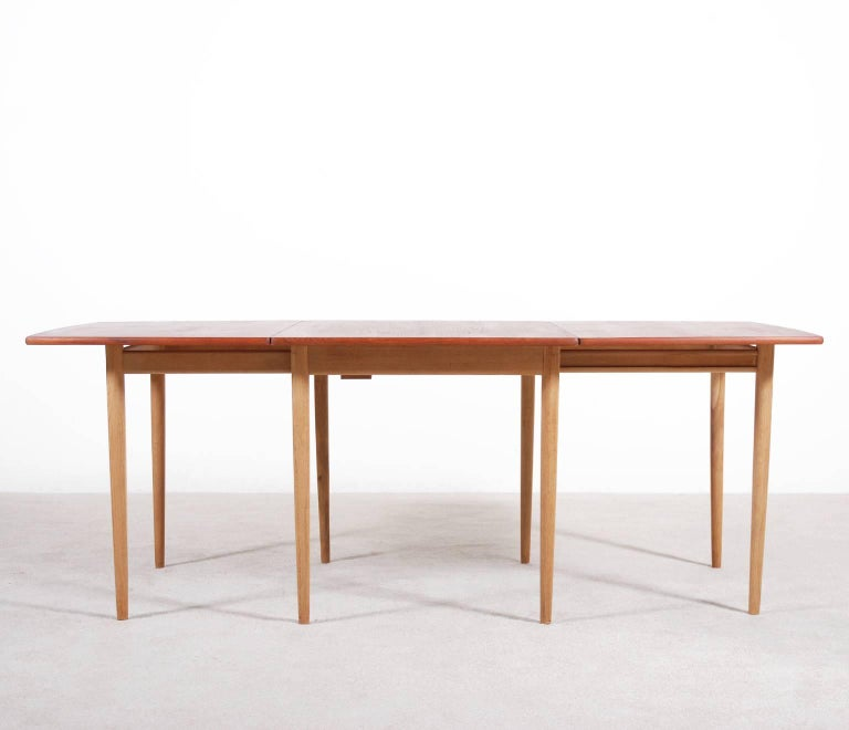 Veneer Hans J. Wegner Drop-Leaf Dining Table for Andreas Tuck, 1960 For Sale