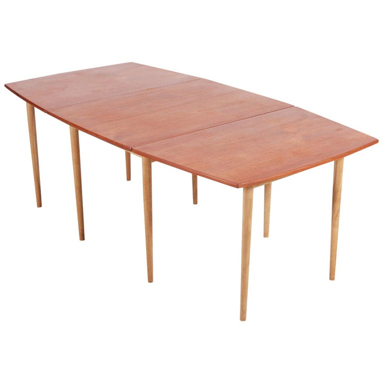 Hans J. Wegner Drop-Leaf Dining Table for Andreas Tuck, 1960 For Sale
