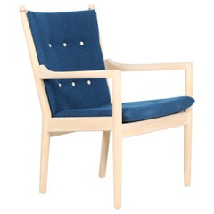Hans J. Wegner Easy Chair No 1788 of Beech by Fritz Hansen with Kvadrat Fabric