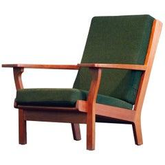 Hans J. Wegner Easy Highback Chair Mod GETAMA 330 Original Fabric Teak