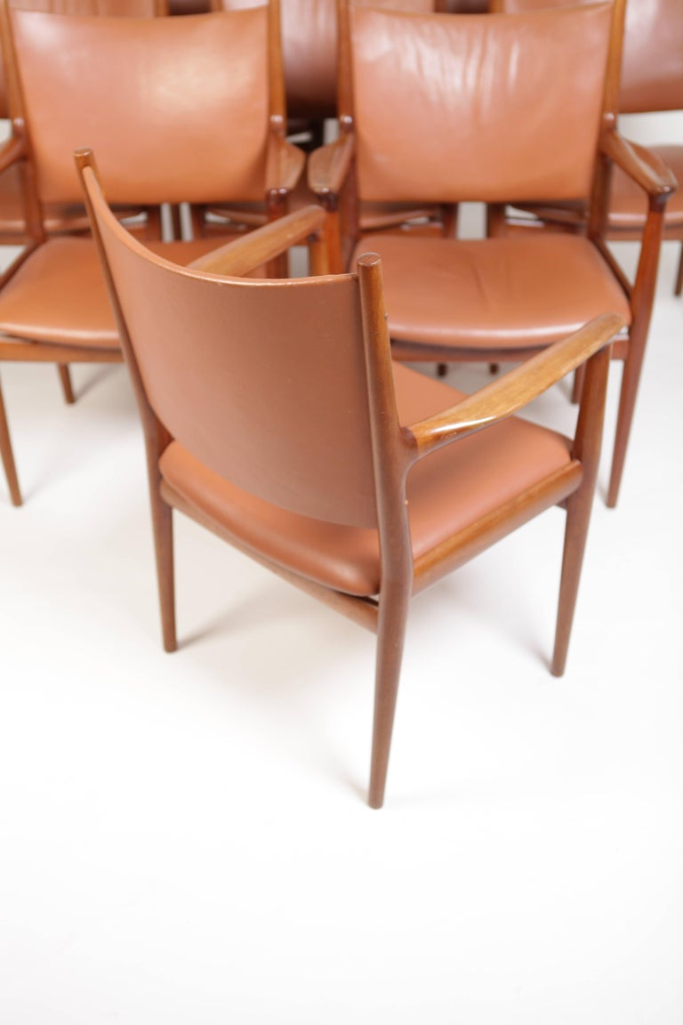 Hans J. Wegner, Eight Armchairs JH513 In Good Condition For Sale In , DE