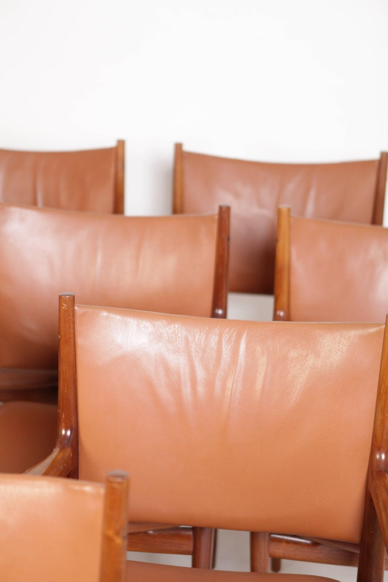 Hans J. Wegner, Eight Armchairs JH513 For Sale 1
