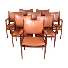 Hans J. Wegner, Eight Armchairs JH513