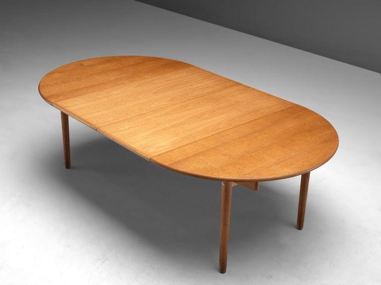 Scandinavian Modern Hans J. Wegner Extendable PP70 Table in Oak