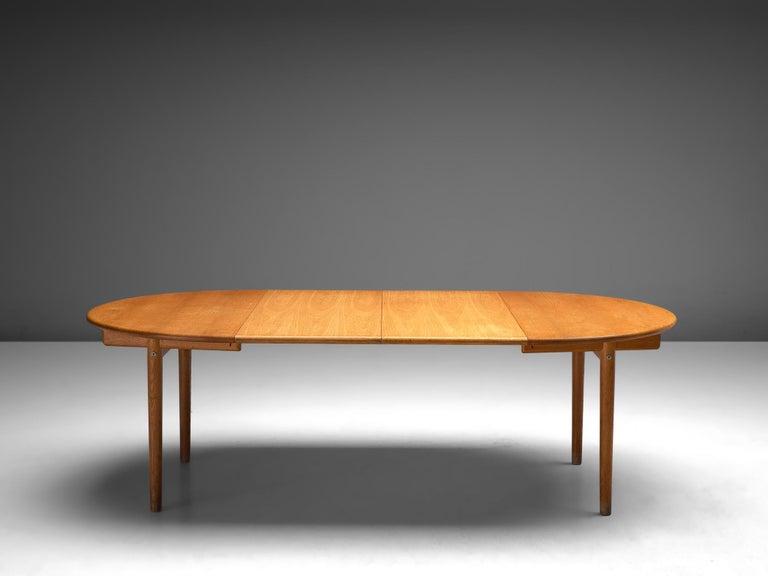 Danish Hans J. Wegner Extendable PP70 Table in Oak