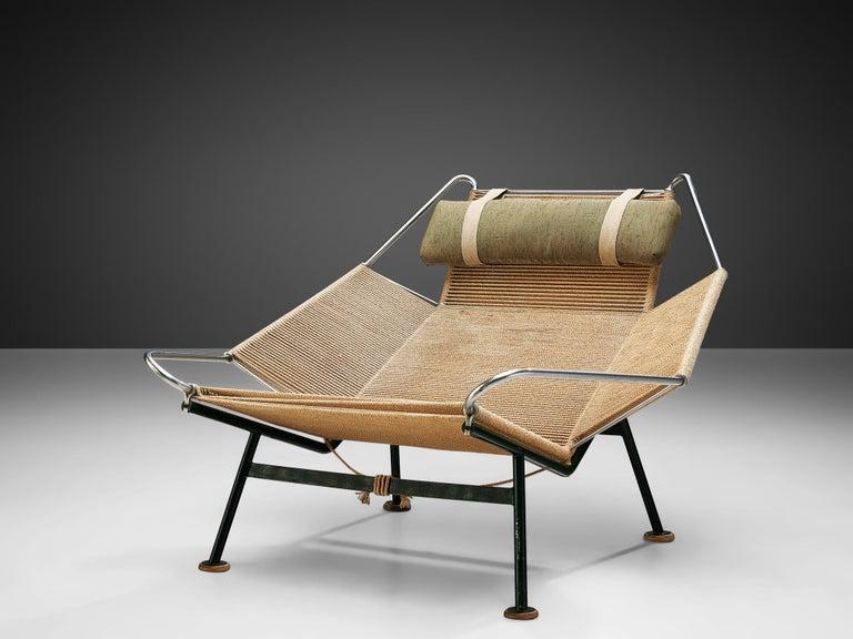 Scandinavian Modern Hans J. Wegner Flag Halyard Chair For Sale