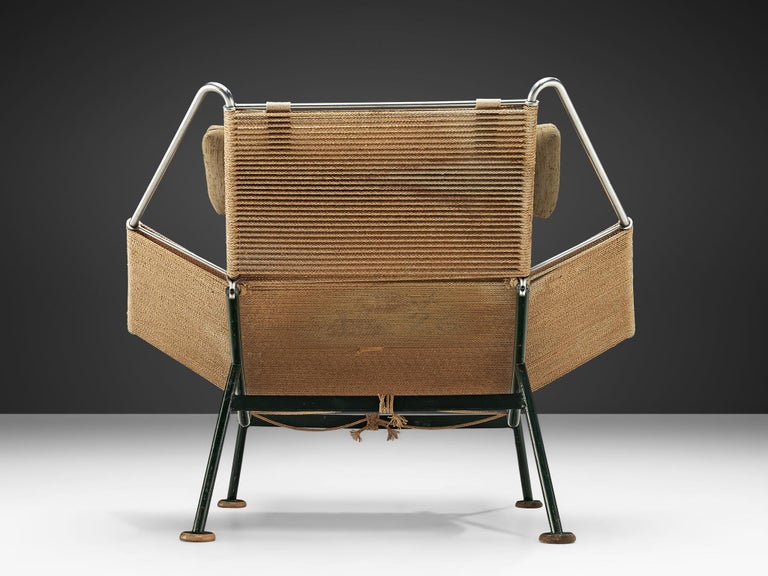 Hans J. Wegner Flag Halyard Chair In Good Condition For Sale In Waalwijk, NL