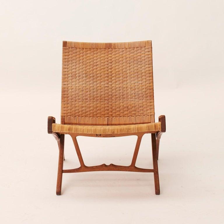 Danish Hans J. Wegner Folding Chair, Model HJ-512 For Sale