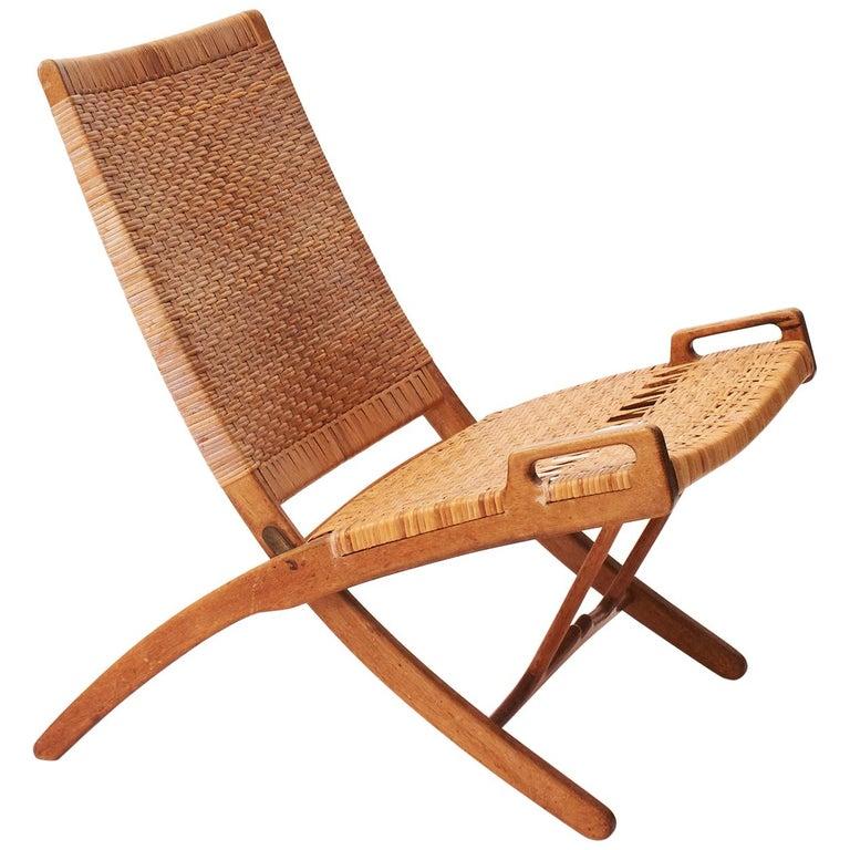 Hans J. Wegner Folding Chair, Model HJ-512 For Sale