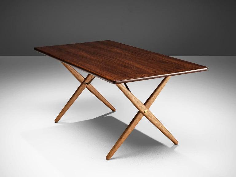 Scandinavian Modern Hans J. Wegner for Andreas Tuck Table For Sale