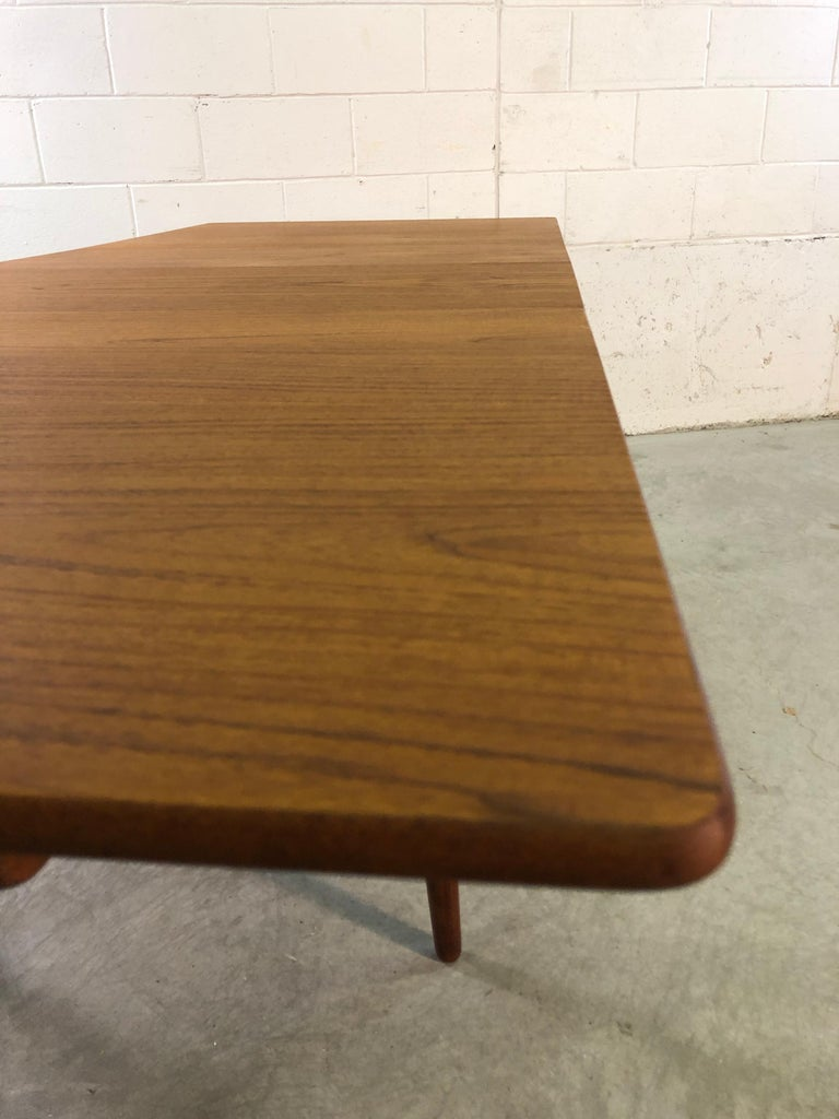 Hans J. Wegner for Andreas Tuck Teak Dining Table, Denmark In Good Condition In Amherst, NH