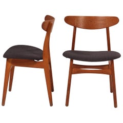 Hans J. Wegner for Carl Hansesn & Søn CH30P Dining Chairs, Set of 2
