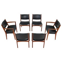 Hans J Wegner for Johannes Hansen JH-525 and JH-526 Dining Chairs in Teak