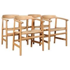 Hans J. Wegner, Four Armchairs