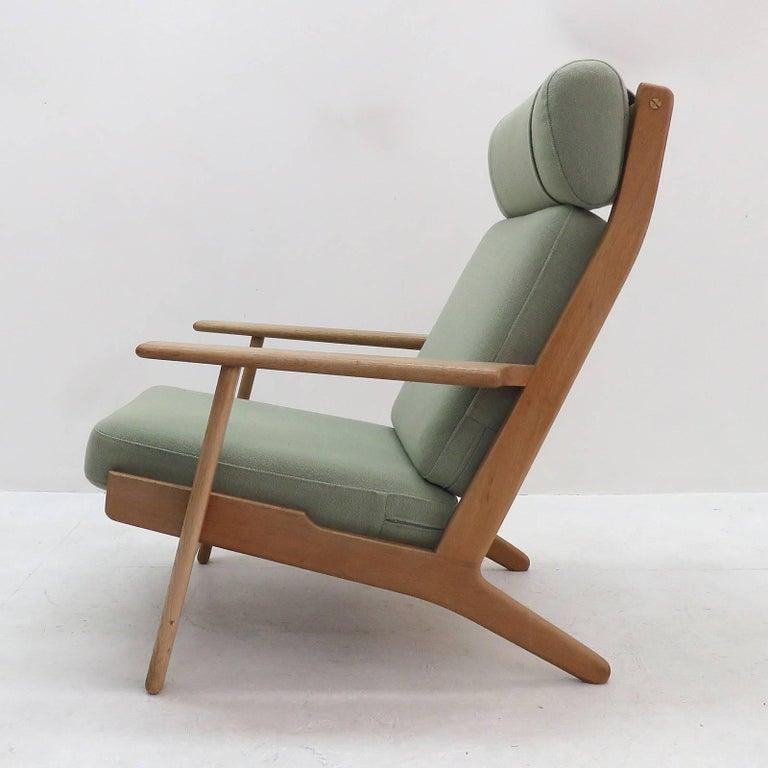 Danish Hans J. Wegner GE 290 High Back Chair For Sale
