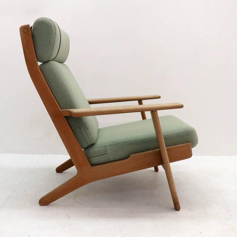 Wool Hans J. Wegner GE 290 High Back Chair For Sale