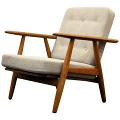 "Hans J, Wegner GE0240 ""Cigar"" Oak Lounge Chair"