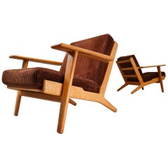 Hans J. Wegner GE290 Oak Framed Armchairs Designed in 1954 for GETAMA-Denmark