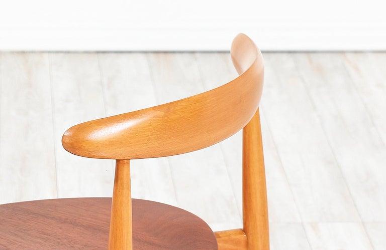 Hans J. Wegner 'Heart' Dining Chairs for Fritz Hansen For Sale 3