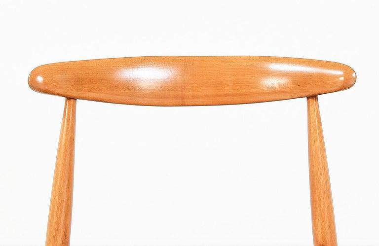 Hans J. Wegner 'Heart' Dining Chairs for Fritz Hansen For Sale 4