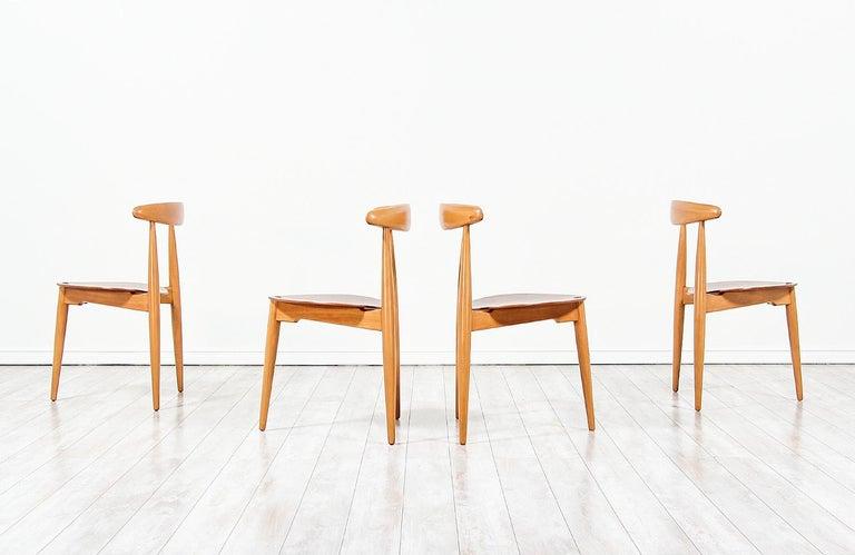 Danish Hans J. Wegner 'Heart' Dining Chairs for Fritz Hansen For Sale