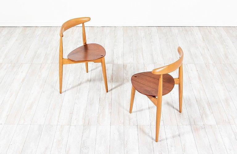 Wood Hans J. Wegner 'Heart' Dining Chairs for Fritz Hansen For Sale