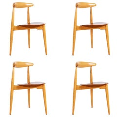 Hans J. Wegner 'Heart' Dining Chairs for Fritz Hansen