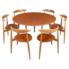 "Hans J. Wegner ""Heart"" Dining Set for Fritz Hansen"