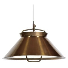 "Hans J. Wegner ""JH-1"" Brass Pendant Made at Johannes Hansen in 1952"