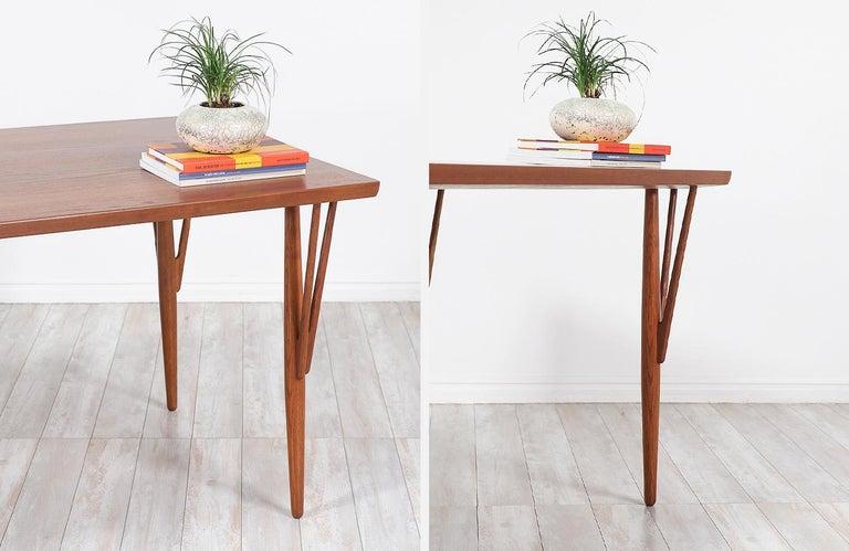 Hans J. Wegner JH-561 Dining Table / Desk for Johannes Hansen For Sale 7