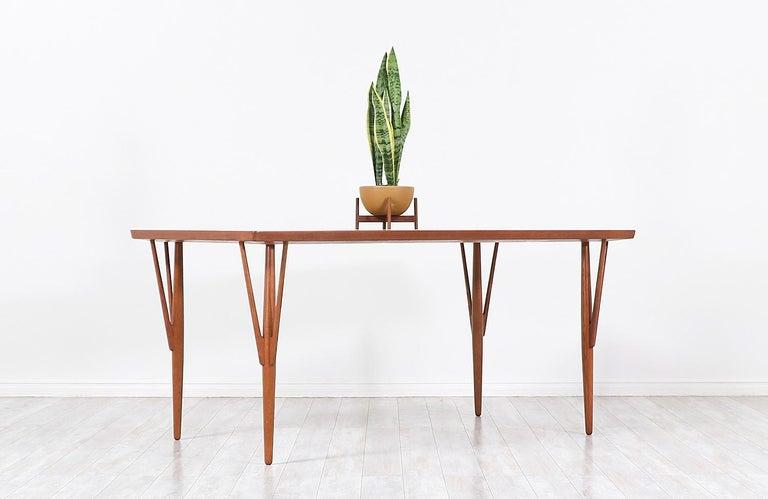 Wood Hans J. Wegner JH-561 Dining Table / Desk for Johannes Hansen For Sale